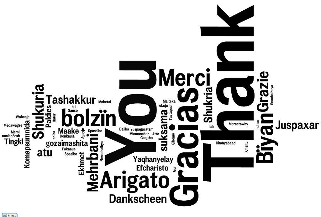 Dar las gracias: sí tu que me lees. Balance Emocional 2015 Acción con Alegría