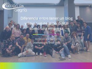 Diferencia entre tener un blog y llevar un negocio digital como una empresa.