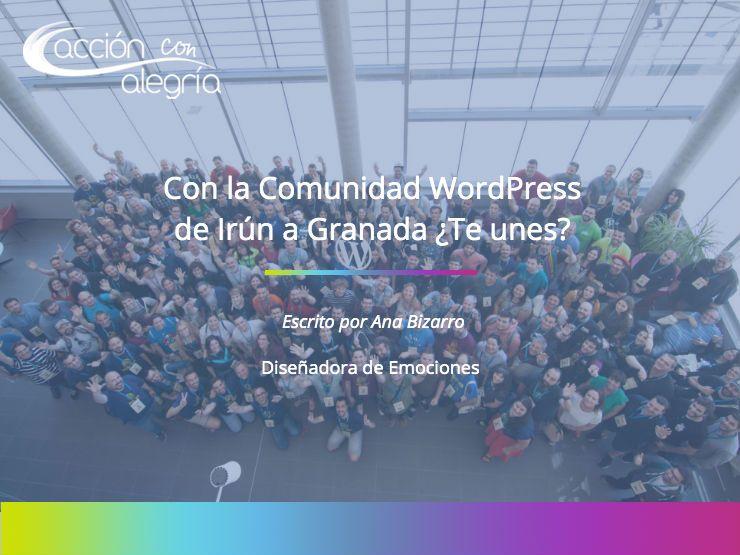 Con la Comunidad WordPress de Irún a Granada  ¿Te unes?